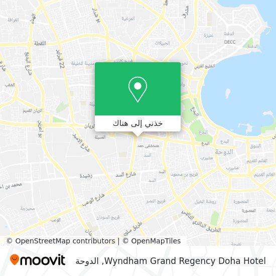 خريطة Wyndham Grand Regency Doha Hotel