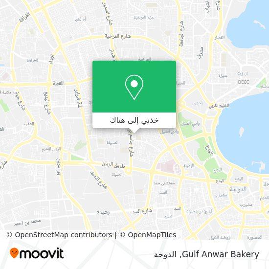 خريطة Gulf Anwar Bakery