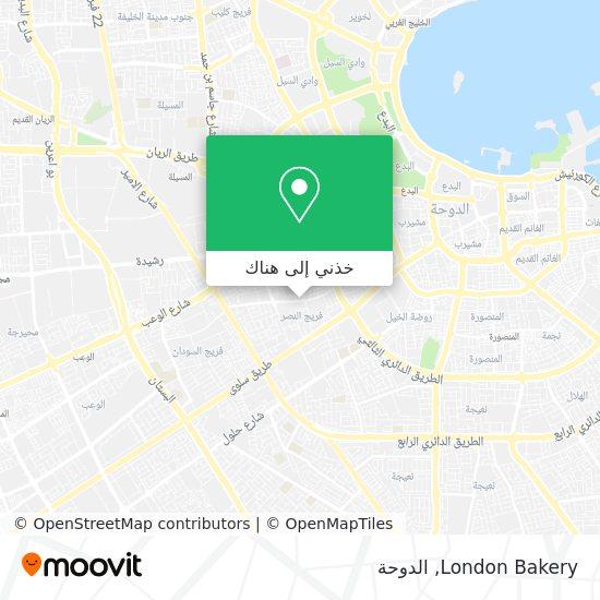 خريطة London Bakery