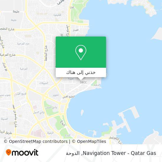 خريطة Navigation Tower - Qatar Gas