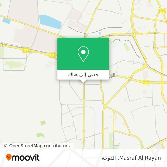 خريطة Masraf Al Rayan
