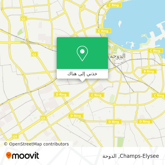 خريطة Champs-Elysee