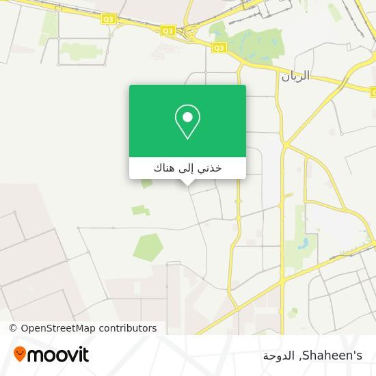 خريطة Shaheen's