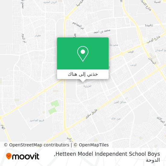 خريطة Hetteen Model Independent School Boys