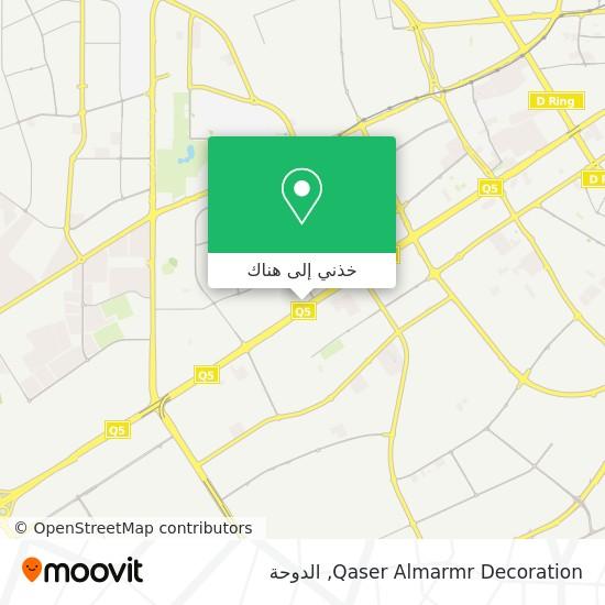 خريطة Qaser Almarmr Decoration