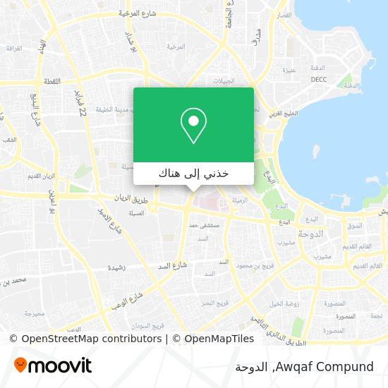 خريطة Awqaf Compund