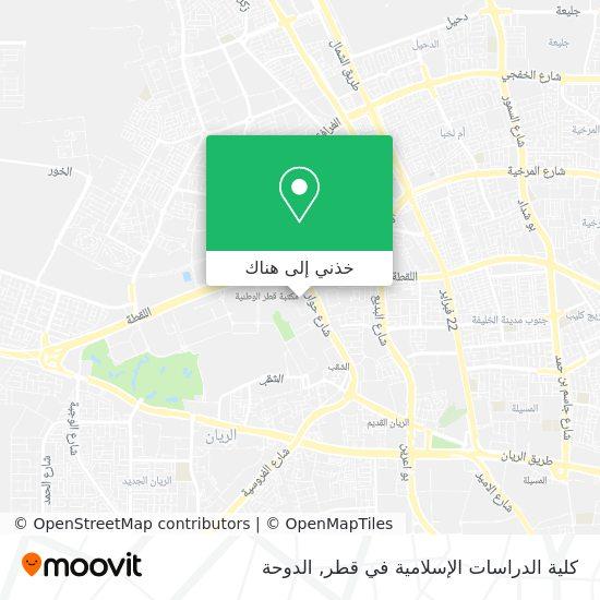 خريطة Qatar Faculty Of Islamic Studies