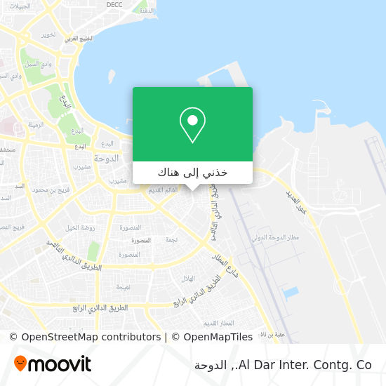 خريطة Al Dar Inter. Contg. Co.