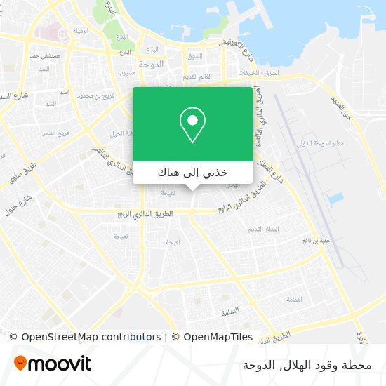 خريطة محطة وقود الهلال