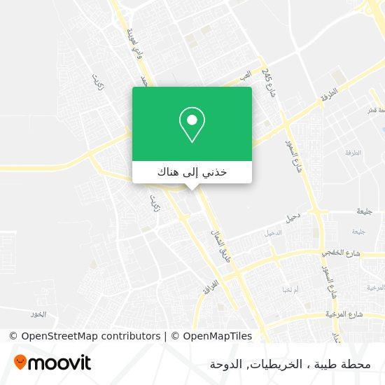 خريطة محطة طيبة ، الخريطيات
