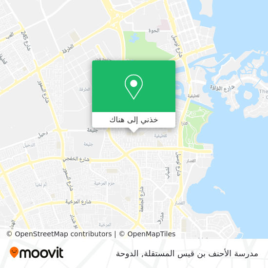 خريطة مدرسة الأحنف بن قيس المستقلة