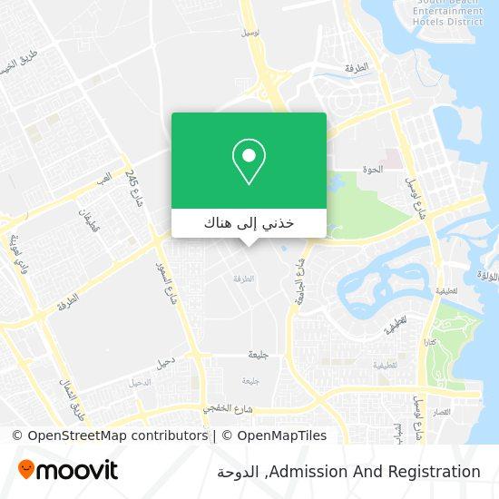 خريطة Admission And Registration