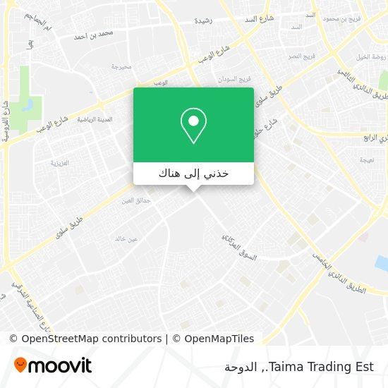 خريطة Taima Trading Est.