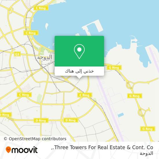 خريطة Three Towers For Real Estate & Cont. Co.