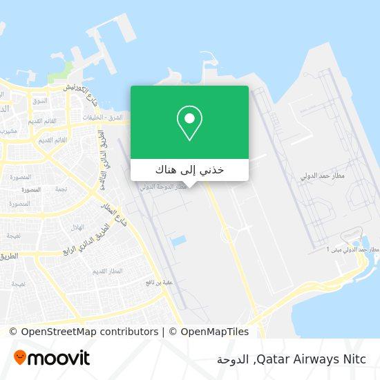 خريطة Qatar Airways Nitc