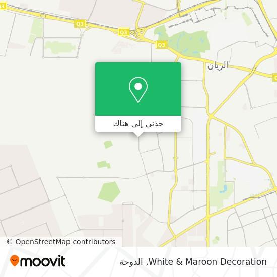 خريطة White & Maroon Decoration