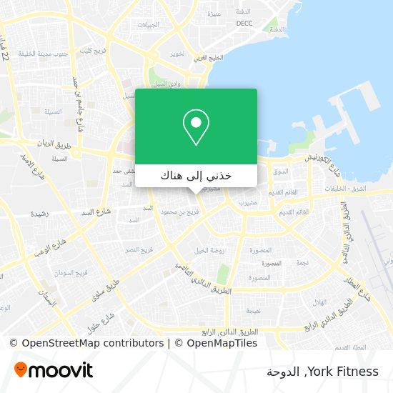 خريطة York Fitness