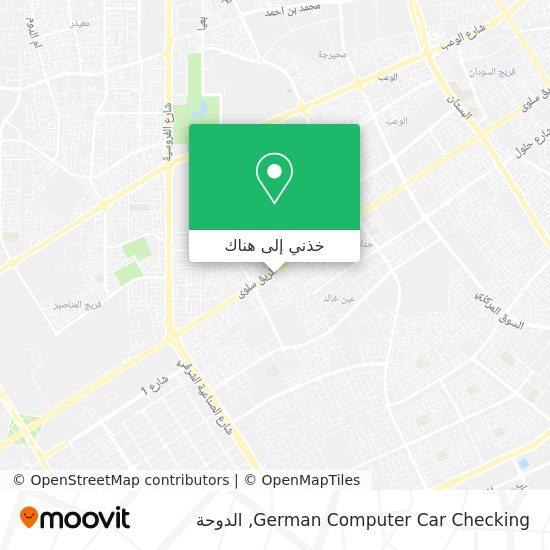 خريطة German Computer Car Checking