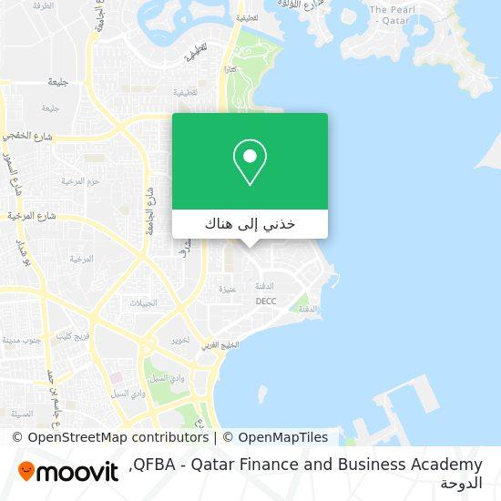 خريطة QFBA - Qatar Finance and Business Academy