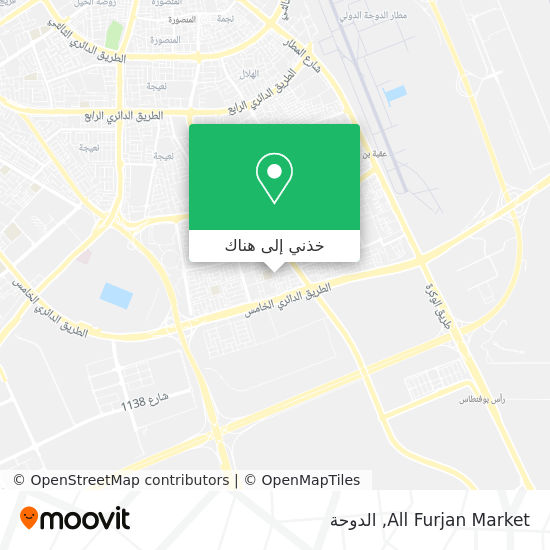 خريطة All Furjan Market