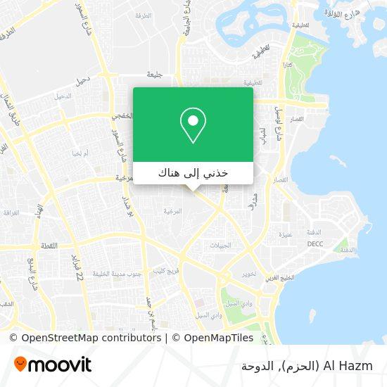 خريطة Al Hazm (الحزم)