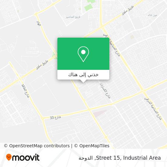 خريطة Street 15, Industrial Area