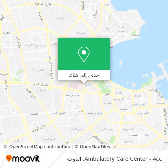 خريطة Ambulatory Care Center - Acc