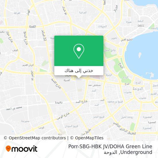 خريطة Porr-SBG-HBK JV / DOHA Green Line Underground