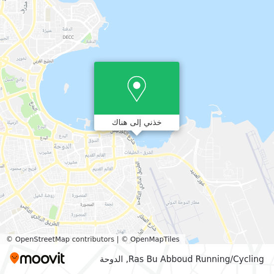 خريطة Ras Bu Abboud Running/Cycling