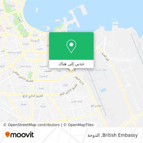 خريطة British Embassy