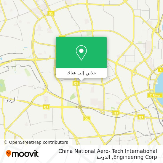 خريطة China National Aero- Tech International Engineering Corp