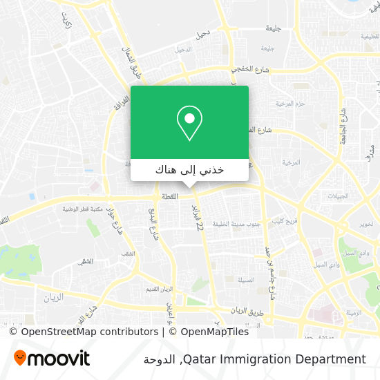 خريطة Qatar Immigration Department