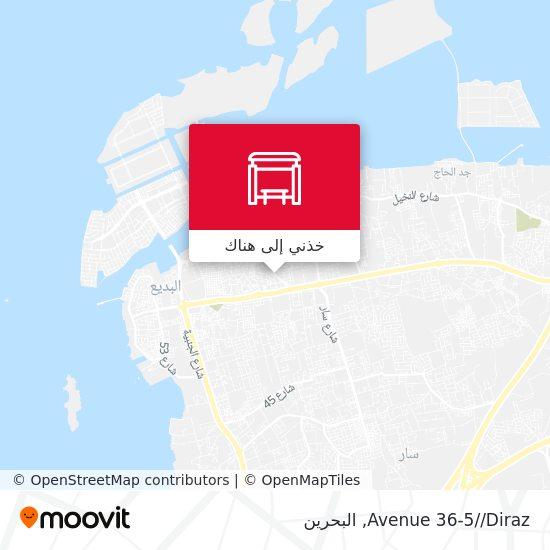 خريطة Avenue 36-5//Diraz