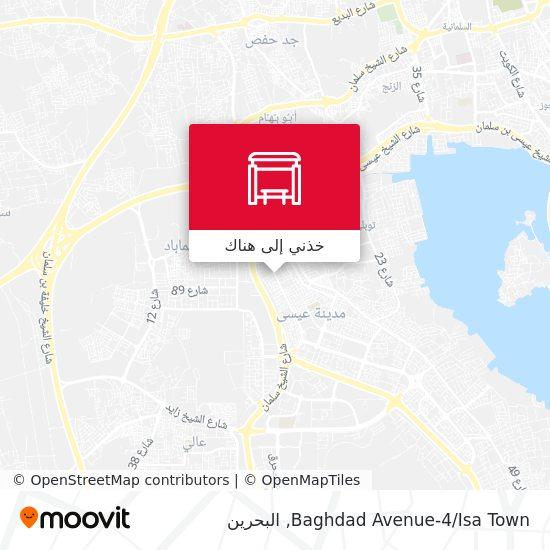 خريطة Baghdad Avenue-4/Isa Town