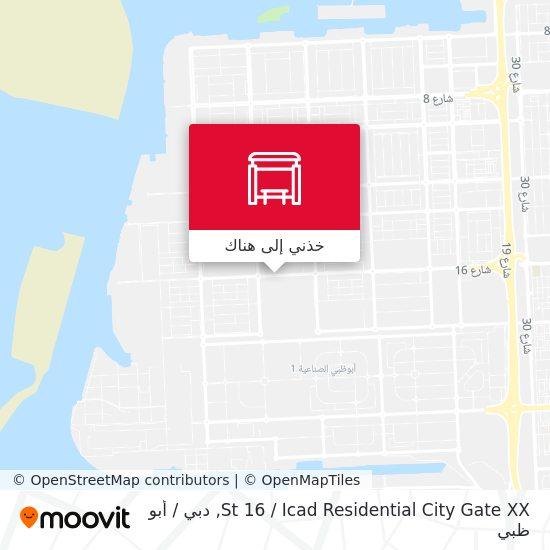 خريطة St 16 / Icad Residential City Gate XX