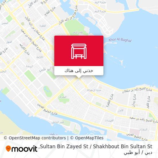 خريطة Sultan Bin Zayed St / Shakhbout Bin Sultan St