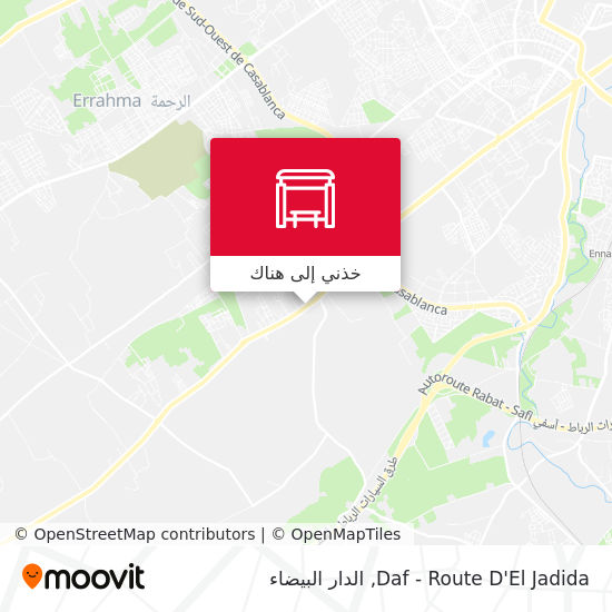 خريطة Daf - Route D'El Jadida