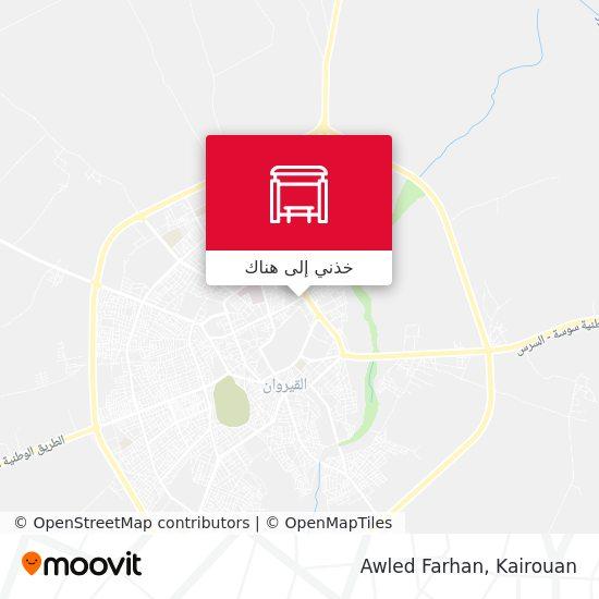 خريطة Awled Farhan