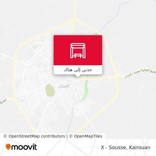 خريطة X - Sousse
