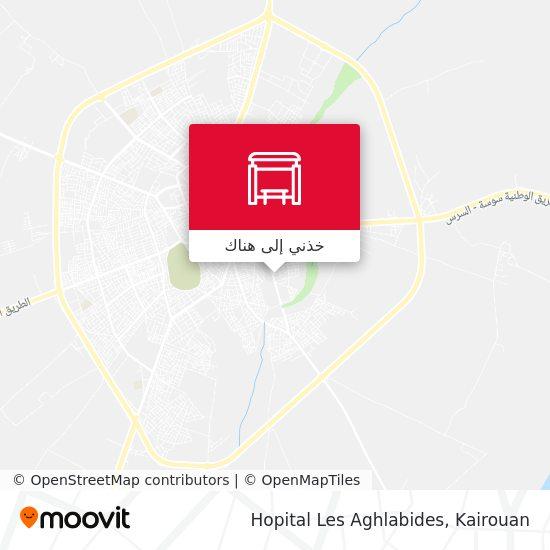 خريطة Hopital Les Aghlabides