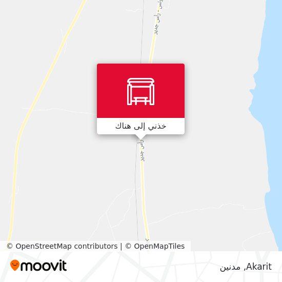 خريطة Akarit