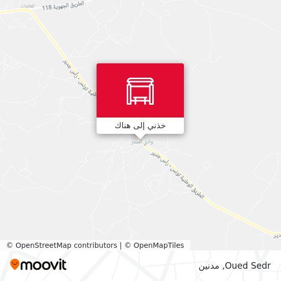 خريطة Oued Sedr