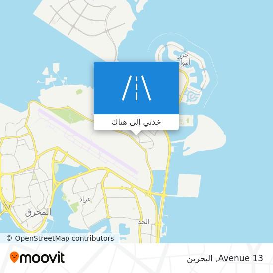 خريطة Avenue 13