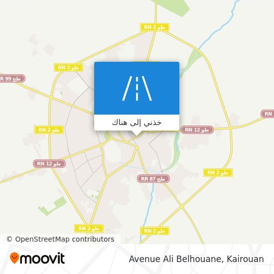 خريطة Avenue Ali Belhouane