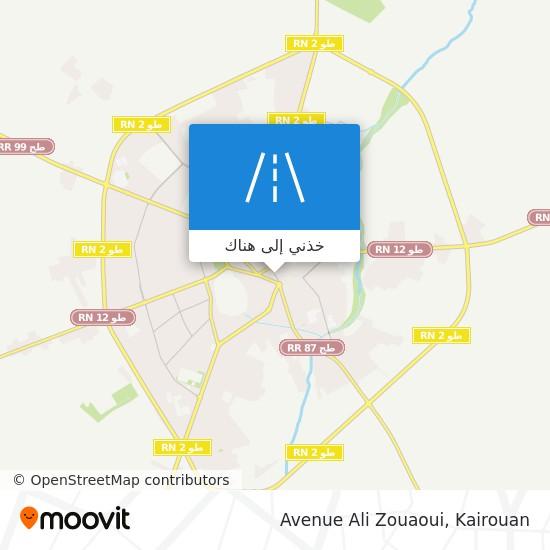 خريطة Avenue Ali Zouaoui