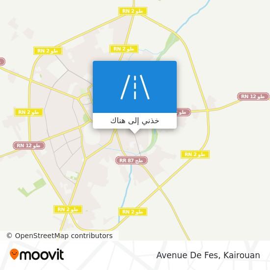 خريطة Avenue De Fes