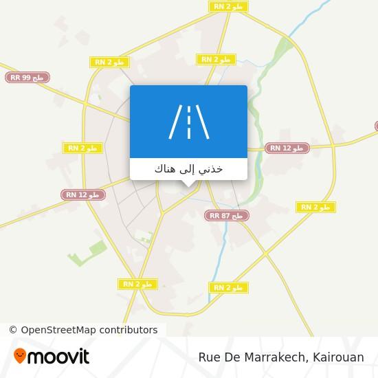 خريطة Rue De Marrakech
