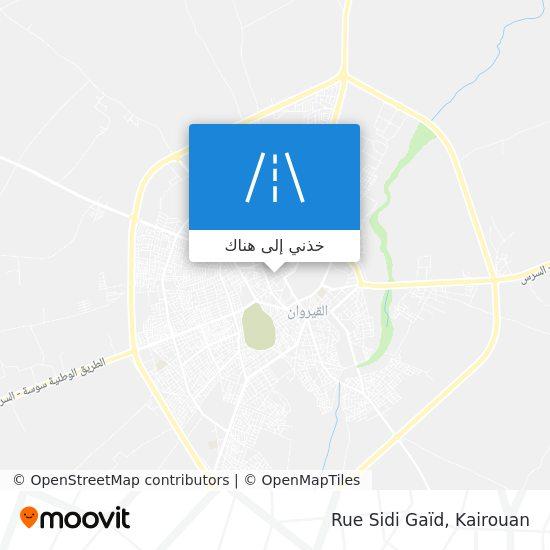 خريطة Rue Sidi Gaïd