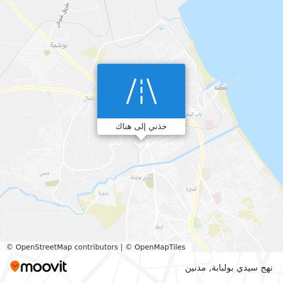 خريطة نهج سيدي بولبابة