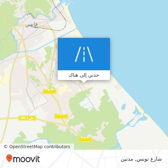 خريطة شارع تونس